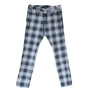 Tripp NYC Gray & White Skinny Plaid Goth Pants